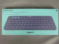 New Blue Logitech K380 Multi-Device Bluetooth Keyboard Mac Windows iOS Android