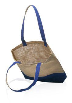 Jute Bag, Custom Jute Bag, Laminated Natural and Blue Jute Tote Bags, Eco-Friendly Jute Bag, Custom Printed Jute Bag, Promotional Jute Bag, Jute Bags 30 for $50, 50 for $54