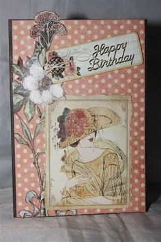 Graphic 45 Card Ideas | Graphic 45 a ladies diary number 7