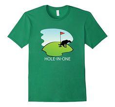 Amazon.com: Funny Dog Poop Hole in One T-Shirt - Dog Golf Shirt: Clothing
