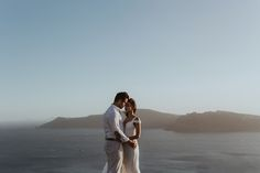Engagement in Santorini island, Greece