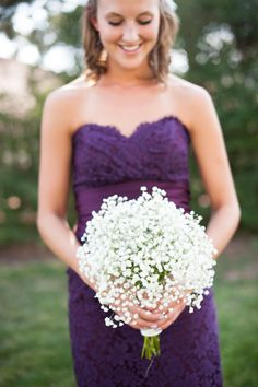 Love the simplicity and beauty of babysbreath  Florist: http://www.kimballfloral.com/ Photography:http://www.sarahboxphotography.com/  Venue:http://www.themanorhouse.com/index2.php