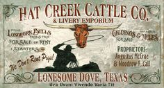 Lonesome Dove - Western and Cowboy Vintage Signs