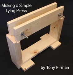 Making a Simple Lying Press for bookbinding by Tony Firman