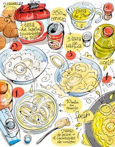 Nos encanta esta receta de Cartoon Cooking: Aritos de cebolla con @yolandacocina #recetas