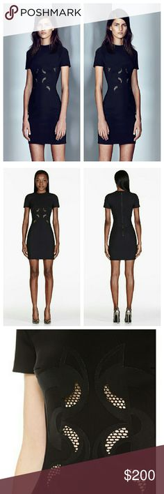 Dion Lee Lasercut Scuba Dress Great condition. See comments. Color is Navy but almost looks black. Dion Lee Dresses Mini