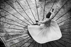 Sufi Dancer | black and white  | Metin Demiralay Photography.
