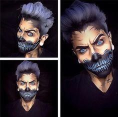 Skull-Face: Looks like a pencil portrait.