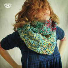 colorful crochet handmade cowl