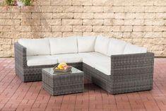 CLP Poly Rattan Lounge Set GENERO 5mm L Garten Set Mit 5 Sitzplätzen