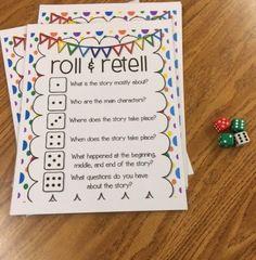 Roll & Retell: Building Summarizing, Communication, and Writing Skills