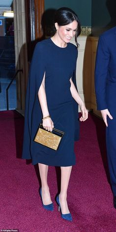 11 Meghan is supremely comfortable with evening dress. In a £1,147 caped Stella McCartney gown in April, she was the epitome of elegant party style