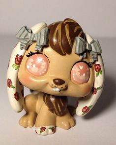 Littlest pet shop * Vintage Bunny * Custom Hand Painted LPS OOAK #Hasbro