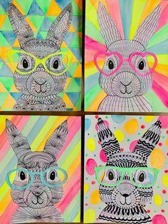 Places to Visit Funky Easter Bunnies Kunstunterricht Grundschule artforkids Bunnies Bunniesart Drawing Easter Funky kunstunterricht grundschule ostern Places visit Zentangle Spring Art Projects, Projects For Kids, Class Art Projects, Sewing Projects, Bunny Crafts, Easter Crafts For Kids, Egg Crafts, Art 2nd Grade, Grade 2