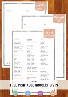 Come organize your weekly shop with me :) Free Printable Home Organizer: Grocery Lists #freeprintable #homeorganizer #grocerylist