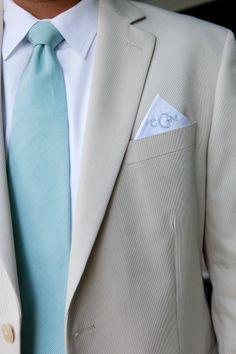 Cotton Pincord Seersucker Suit, Vineyard Vines Tie and Pocket Square