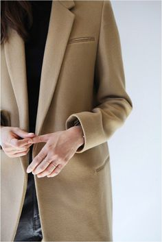 Minimal style #style coat with rings