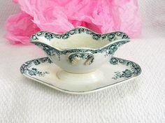 Saucière de collection en porcelaine porcelaine de par VintageSyell