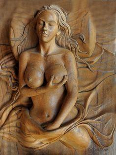 Wood carving..I Am Woman