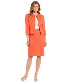 Coral Tweed Skirt Suit / / Perfect for Spring Wedding / Easter / Church / Work Wear / Style
