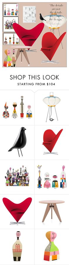 """Vitro Heart Cone Chair"" by frenchfriesblackmg ❤ liked on Polyvore featuring interior, interiors, interior design, home, home decor, interior decorating, Vitra and Charles and Ray Eames"