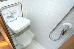 Small Rv Bathroom & Toilet Remodel Ideas 43 image is part of 80 Wonderful Small RV Bathroom and Toilet Remodel Ideas gallery, you can read and see another amazing image 80 Wonderful Small RV Bathroom and Toilet Remodel Ideas on website Camper Bathroom, Compact Bathroom, Small Bathroom Sinks, Tiny House Bathroom, Bathroom Toilets, Bathroom Ideas, Bathroom Layout, Bathroom Furniture, Toilet Shower Combo