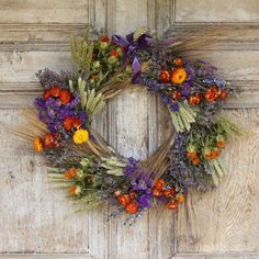 It makes a great centerpiece in a barn or kitchen, a slightly alternative festive door wreath and they are perfect as a wedding decoration.You can hang our dried wreaths outside, but we recommend keeping them sheltered - in a porch or similar. If kept dry and out of extreme weather our dried flower wreaths can last months and months. They may shed a little and the colours will fade, but their texture and charm will not.This flower ring is packed with all sorts of dried flowers and foliage in…