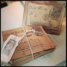Vintagemarketplace.etsy.com santa letters perfect for holding gift cards, 12 days of christmas