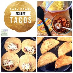 Easy Peasy Skillet Tacos - a simple vegetarian lunch the kids will love