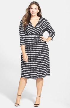 Tart Print Surplice Bodice Dress (Plus Size) available at #Nordstrom