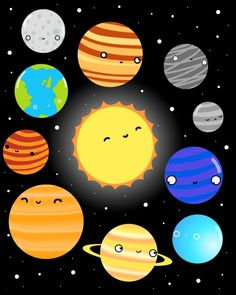 The Solar System by Sarah Crosby  It can be found on prints and just about everything else on Redbubble and Society 6.  Hope you like it, thanks for looking.