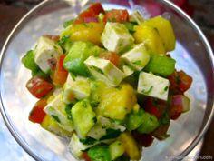 Tofu Ceviche (tofu, celery, tomato, mango, avocado, red onion, cilantro, lime juice, sea salt)