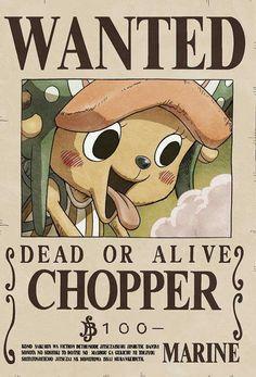 One Piece - Chopper Chopper One Piece, Ace One Piece, One Piece Figure, One Piece Comic, Zoro One Piece, Wanted One Piece, Tony Tony Chopper, Anime Disney, One Piece Bounties