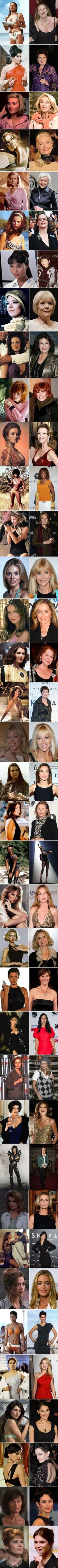 Bond Girls - Then and Now. S)