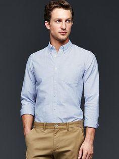 Bengal stripe oxford shirt (slim fit) Product Image