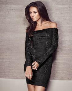 Michelle Keegan Bardot Long Sleeve Bodycon Dress - Lipsy love Michelle Keegan Autumn Collection