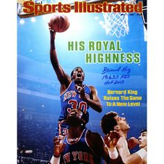 Bernard King Signed Sports Illustrated Cover 16x20 Photo w 19655 Pts HOF 2013 insc