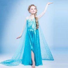 Girls Frozen Princess Elsa Anna Tulle Dress Up Fancy Costume Cosplay Halloween Elsa Frozen, Frozen Hair, Frozen Snow, Disney Frozen, Cute Costumes, Halloween Costumes For Girls, Girl Costumes, Halloween Cosplay, Girls Lace Dress