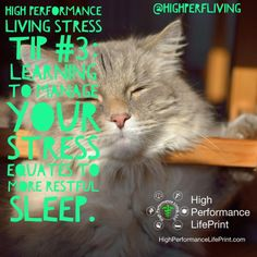 High Performance Living Stress Tip #3: Learning to manage your stress equates to more restful sleep.  #stress #relax #mhealth #quantifiedself #measure #change #biohacking #biohack #transformation #health #life #business #vetlife #coach #coaching #highperformance #veterinarian #lifeprint #vetstudent #vettech #vetschool #success #veterinary #instavet #highperformancelifeprint #vetstudentlifeprint #hpl #highperfliving #actiontips