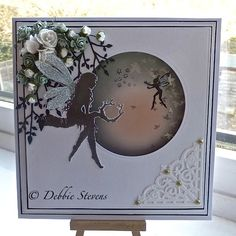 Hi everyone,Ive been using my favourite Lavinia stamps again, I love these stamps, also used Spellbinders grand squares, Spellbinders standard circles large, Spellbinders filigree corners, impress...