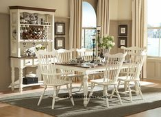 Charming Country dining room sets white