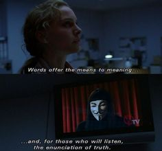 V for Vendetta so powerful! V For Vendetta Quotes, V For Vendetta 2005, V For Vendetta Movie, V Pour Vendetta, Tv Quotes, Movie Quotes, Life Quotes, Ideas Are Bulletproof, Movie Dialogues