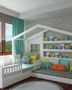 Kids Bed House Design Kids Bedroom Ideas Designs In 2019 Toddler House Bed 20 Amazing Kids Bedroom Design Ideas 7 Awesome Diy Kids Bed Plans Bunk Beds Loft Beds The Kid S House Girls Bedroom, Bedroom Decor, Bedroom Furniture, Kid Bedrooms, Furniture Ideas, Design Bedroom, Bedroom Bed, Furniture Design, Bedroom Colors