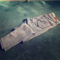 High Waisted Jeans High Rise Twig Ankle Acid Wash Denim BDG Jeans Skinny