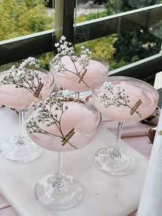Fancy Drinks, Summer Drinks, Cocktail Drinks, Cocktail Ideas, Pink Cocktails, Summer Parties, Tea Parties, Party Planning, Wedding Planning