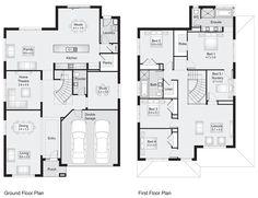 Sherwood 37 || Floor Plan - 340.60sqm, 12.10m width, 17.70m depth || Clarendon Homes Floor Plans