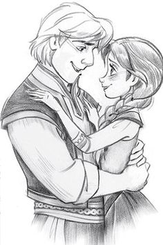 I love Christof and Anna so much! They r the ultimate Disney couple! Disney Pixar, Frozen Disney, Disney And Dreamworks, Disney Animation, Disney Magic, Disney Art, Disney Characters, Anna Frozen, Frozen Fan Art