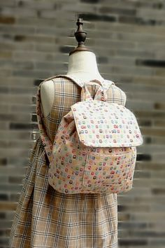 Backpack for School Kindergarten Kids Handmade by Japanese Kokka Fabric