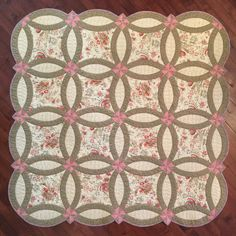 "~54""x 54"" Throw size, want it bigger?  This pattern includes options for full and queen size.  Templates and instructions for piecing those pretty curves.  The"
