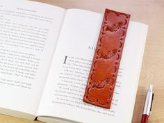 Salmon Bookmark, Handmade Leather Bookmark, Fishing Bookmark Birthday Gift For Dad , Leather Anniversary Anniversary Gift, Fish Bookmark - Modern Happy Anniversary Quotes, Anniversary Gifts For Parents, Marriage Anniversary, Gifts For Husband, Leather Gifts, Leather Books, Leather Craft, Handmade Leather, Leather Anniversary Gift